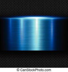 Metal fondo azul
