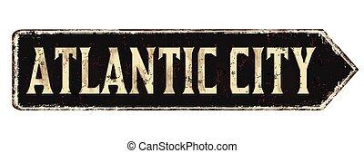 metal, muestra de la ciudad, atlántico, oxidado, vendimia