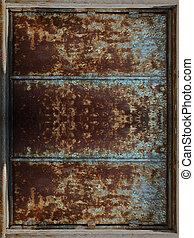 metal oxidado, marco