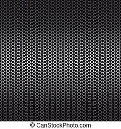 metal, plano de fondo, vector, ilustración, hexágono