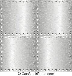 Metal pulido, fondo templado.