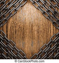 Metal y madera