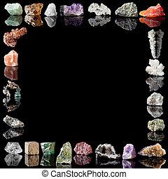 metales, minerales, piedras preciosas