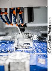 Metalworking CNC molinera.
