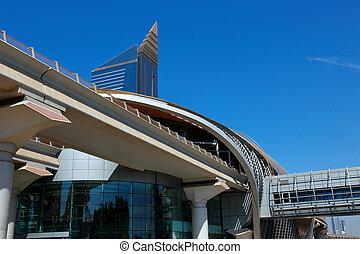 Metro estación de metro en Dubai Emiratos árabes unidos