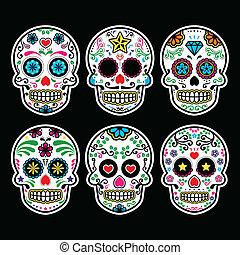 mexicano, cráneo, azúcar