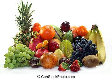 mezcla, fruta