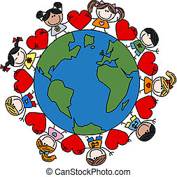 Mezclado amor étnico feliz