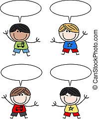 Mezclados niños felices y étnicos