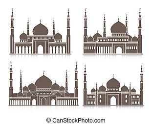 Mezquita colorida o masjid