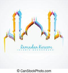mezquita, diseño, colorido