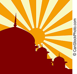 mezquita, vector