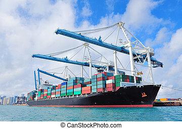 miami, buquede carga, puerto