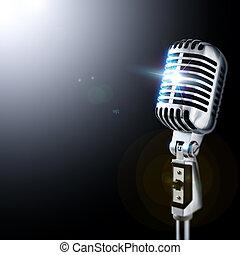 Micrófono en foco
