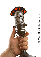 Micrófono en mano
