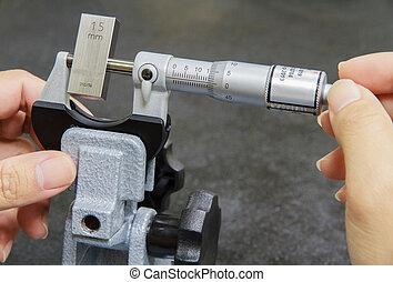 micrómetro, calibración
