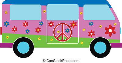microbús, hippie