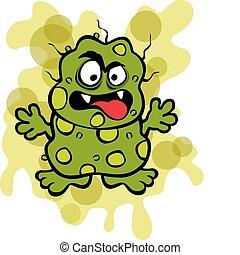 microbio, repugnante, germen