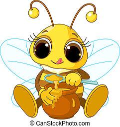 miel, comida, lindo, abeja
