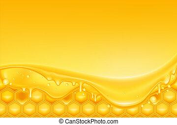 miel, plano de fondo