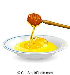 miel, platillo