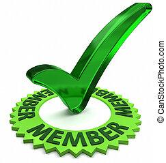 miembro, aprobado