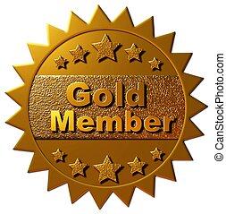 miembro, oro