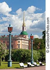 (mikhailovsky), russia., petersburg., santo, castillo, ingeniería
