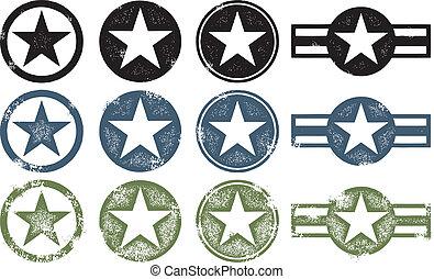 militar, grunge, estrellas