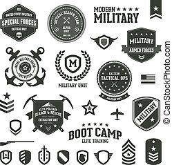 militar, insignias