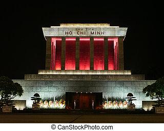 minh, chi, hanoi, vietnam, ho, mausoleo
