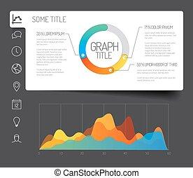 minimalista, infographic, tablero de instrumentos, plantilla
