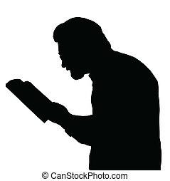 miope, libro de lectura, hombre