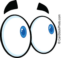 Mirando ojos de dibujos animados