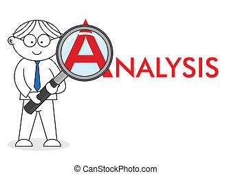 mirar, analista, de cerca