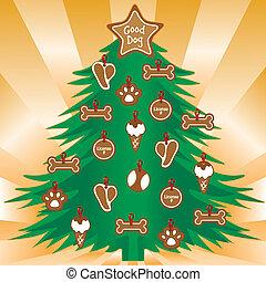 Mis perros prefieren el árbol de Navidad
