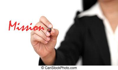misión, empresa / negocio