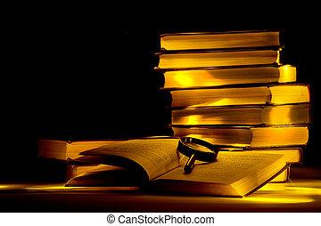 misterioso, library.