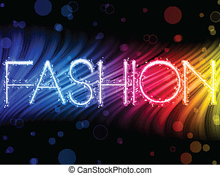 moda, colorido, resumen, fondo negro, ondas