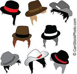 Moda masculina, peinados y sombreros
