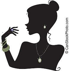 moda, silueta, accesorios