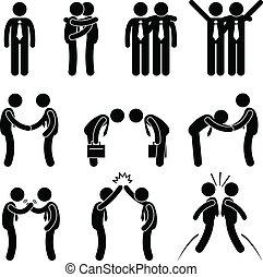 Modales de negocios saludos gesto