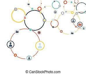 modelo, conexión, humano