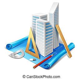 modelo, herramientas, arquitectónico