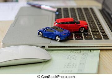modelo, seguro, coche, concepto