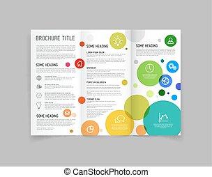 Modern Vector 3 pliegues de diseño de folletos