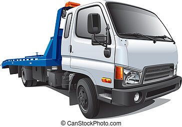 moderno, camión, remolque