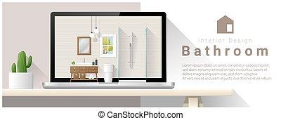 Moderno diseño de interiores de baño 2