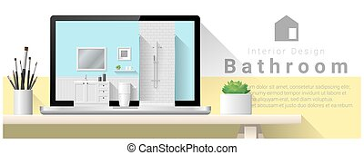 Moderno diseño de interiores de baño de fondo 5