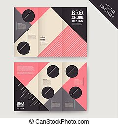 Moderno folleto geométrico tri-pliegado